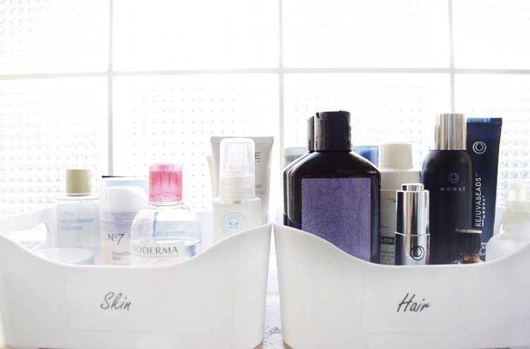 Beauty Product Pare Down Bathroom Organizing Tips And Tricks
