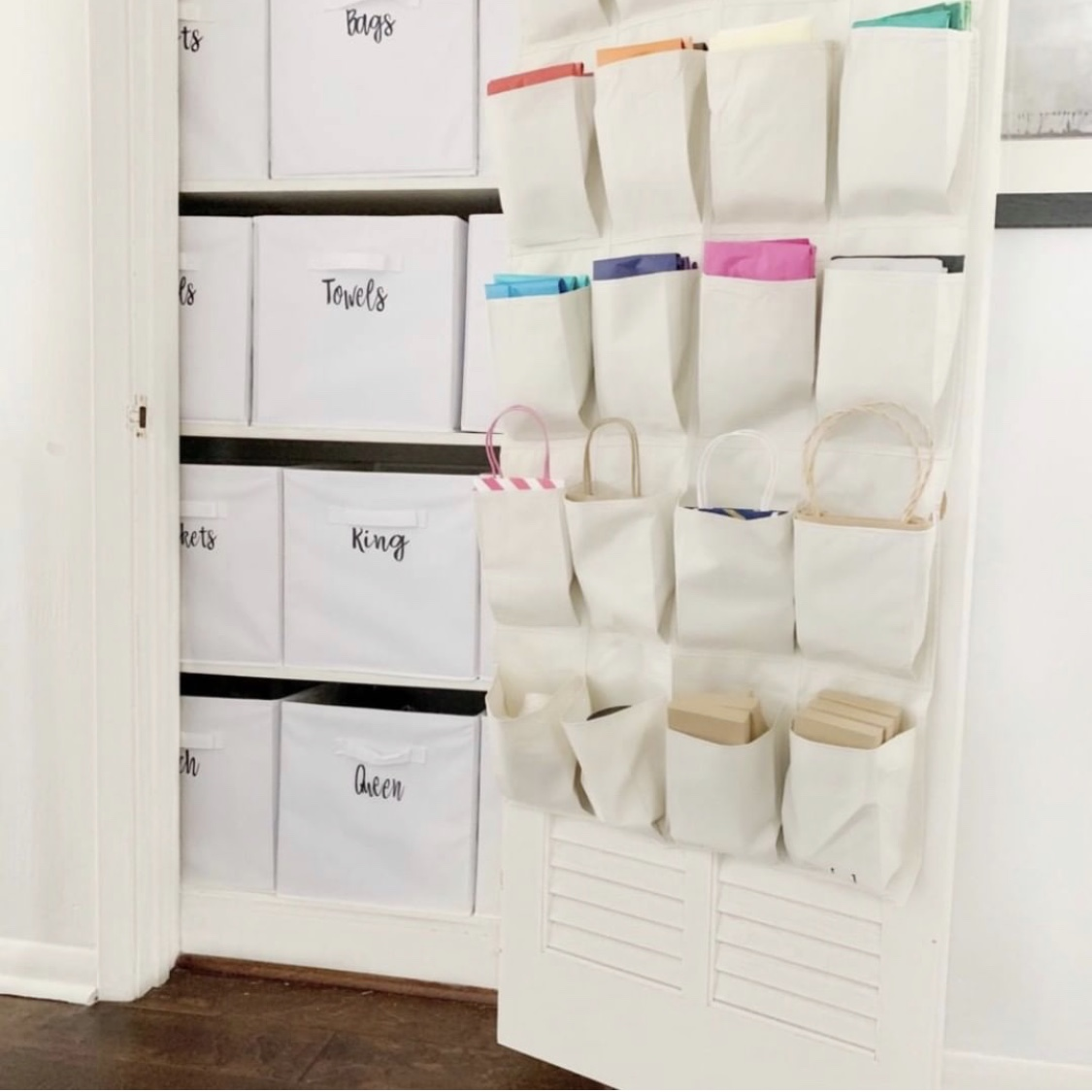 how to store linens without a closet